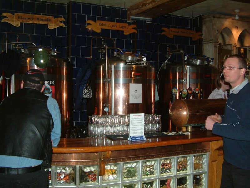 Straight from the serving tanks: the main bar in Franciscan Well