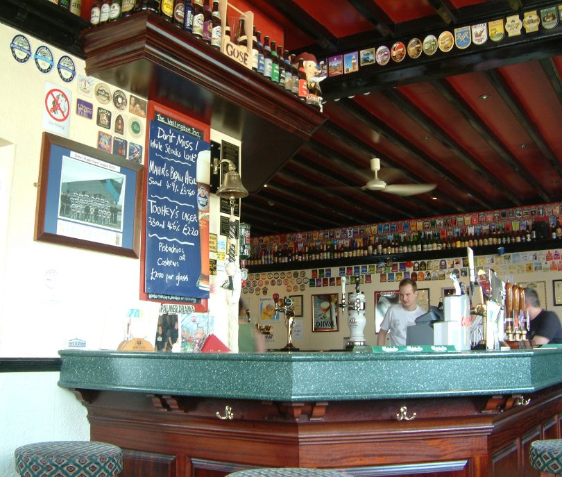 A collector's life: the main bar in The Wellington