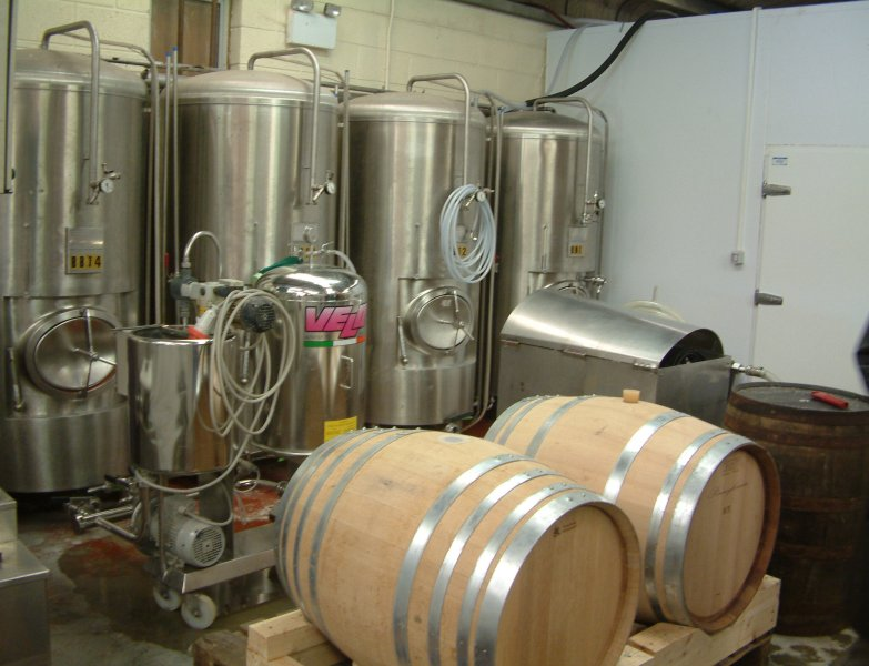 Where the action is: White Gypsy's bright tanks and oak barrels of Vintage Imperial