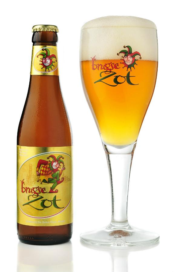 Jester // Fool Logo Brugse Zot Belgian Beer Glass