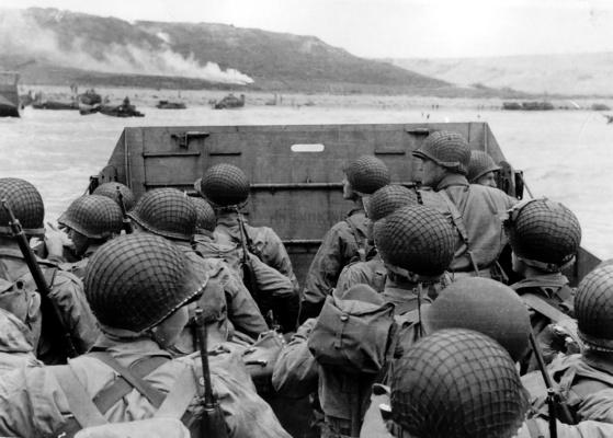 Omaha beach on d day 6 june 1944