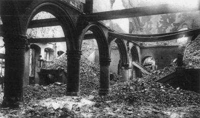 The Destroyed Library of Leuven, world war one