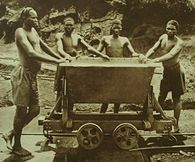 Workers at the Kisanga copper-mine, Belgian Congo, 1928