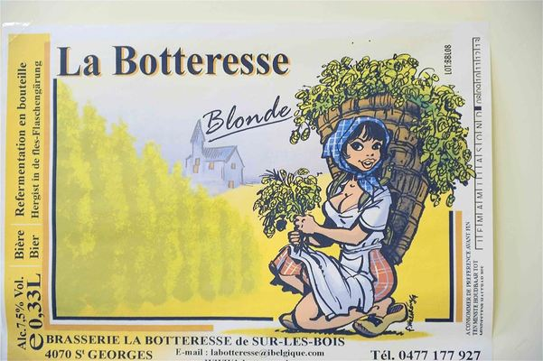 La Botteresse Blonde, belgian beer