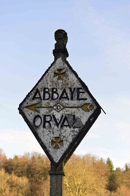 Orval signpost
