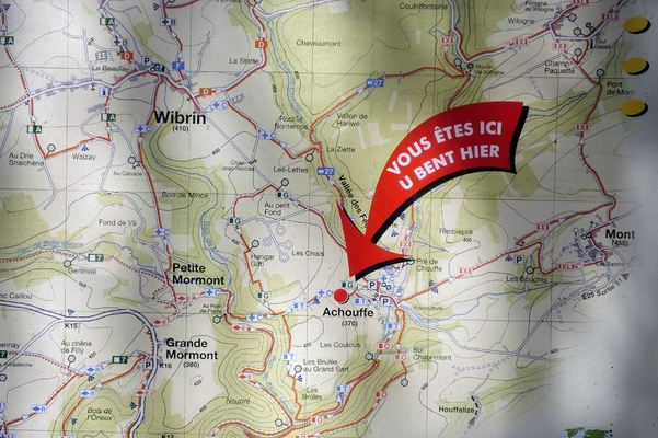 Brasserie D'Achouffe, Map, You Are Here