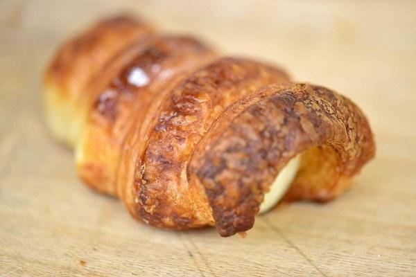 Cream filled Belgian pastry horn