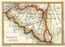 Map of Belgium (1830)