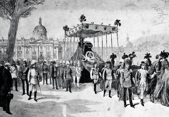 Funeral procession for Emperor Friedrich III