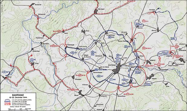 bastogne map december 1944