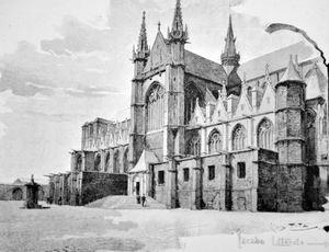 the Church of Sainte-Waudru, Mons