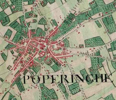Popering belgium ferraris map