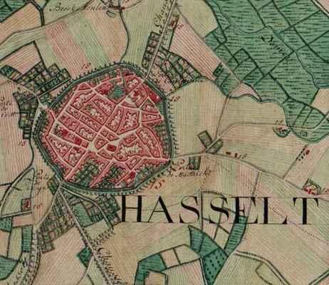 Hasselt belgium ferraris map