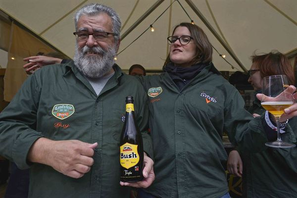 Bush (Scaldis in the US) is an icon. The 'Confrérie de la Bush' is a brotherhood of Bush beer lovers, here promoting the Bush Blonde
