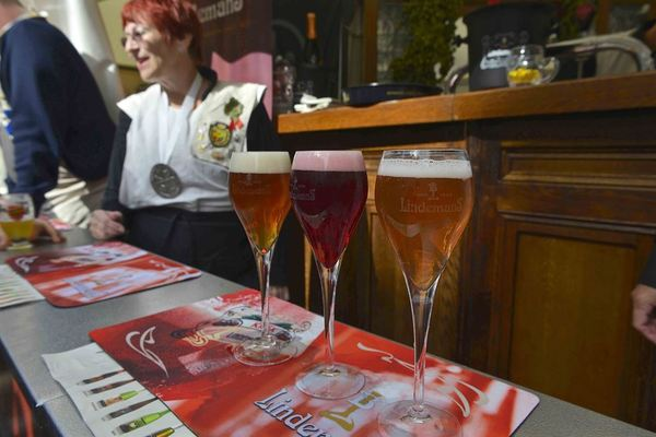 Kriek and Gueuze. Yes, we're in Brussels
