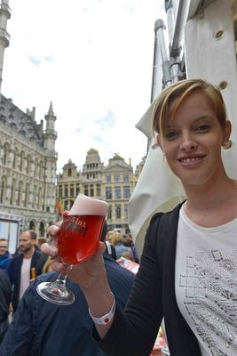 Featuring Kriekenbier at the Brussels Grand Place