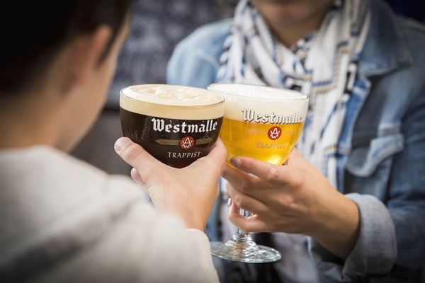 Westmalle Dubbel and Westmalle Tripel