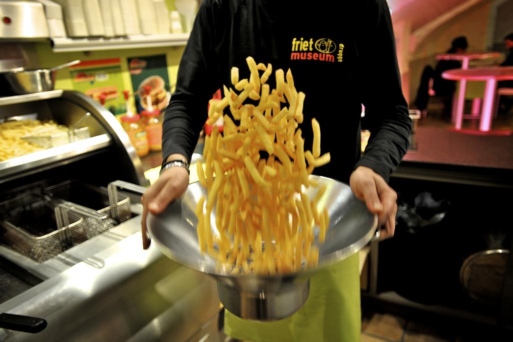 Belgian frietmuseum in Bruges