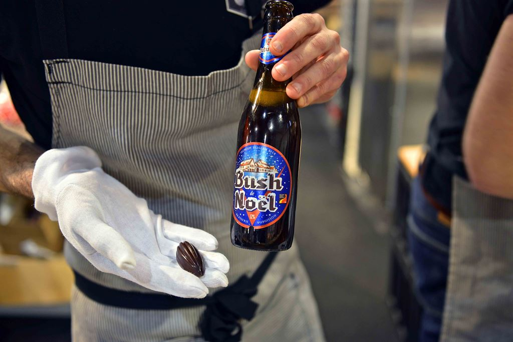 Bush de Noel beer paired with chocolate
