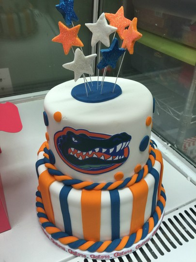 Fabulous Florida Gator Themed Cake By Courtnibrown17 Befunky Photo Editor Personalised Birthday Cards Veneteletsinfo