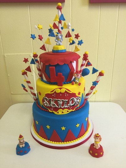 Excellent Circus Themed Birthday Cake By Courtnibrown17 Befunky Photo Editor Funny Birthday Cards Online Elaedamsfinfo