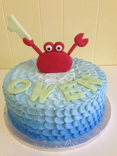 Astonishing Crab Themed Birthday Cake By Courtnibrown17 Befunky Photo Editor Funny Birthday Cards Online Necthendildamsfinfo