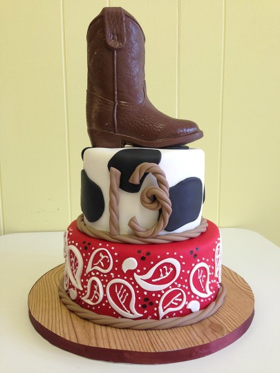 Wondrous Western Themed Birthday Cake By Courtnibrown17 Befunky Photo Editor Funny Birthday Cards Online Alyptdamsfinfo