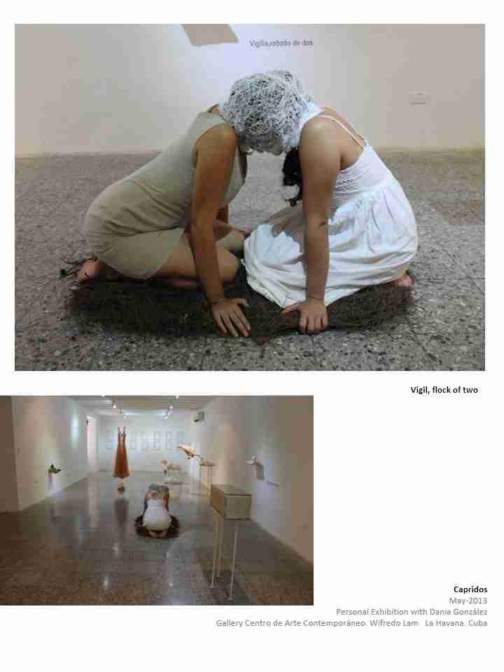Obra: Vigilia rebaño de dos.Expo Capridos