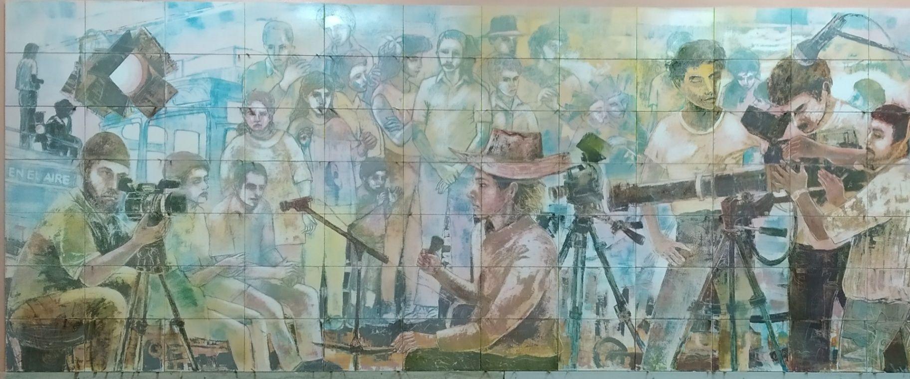 Obra: Mural cerámica Telecentro villa Clara
