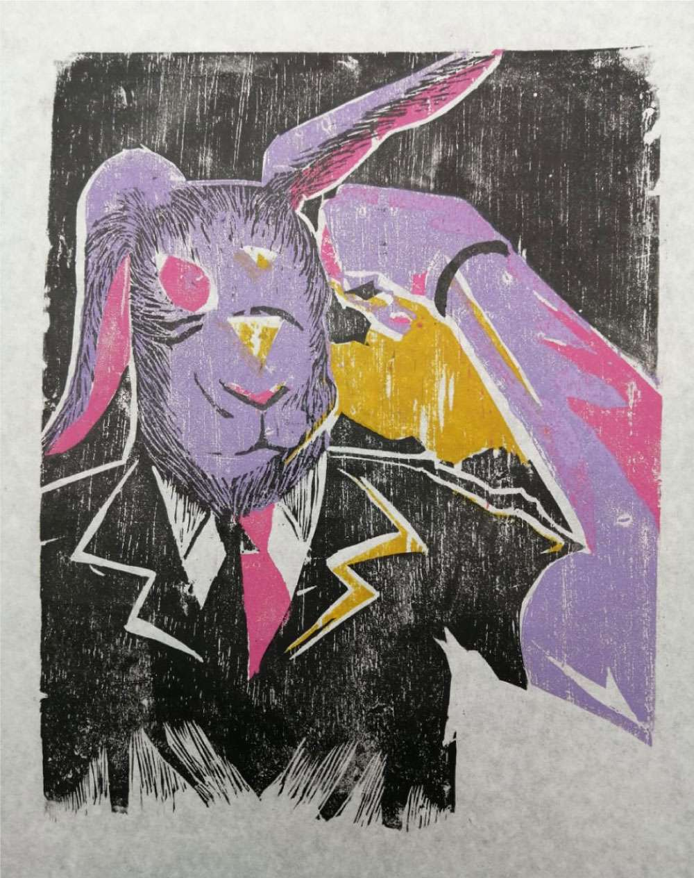 Obra: Autorretrato y propaganda 3: Señor conejo, transformación total/Serie Sangre de conejo