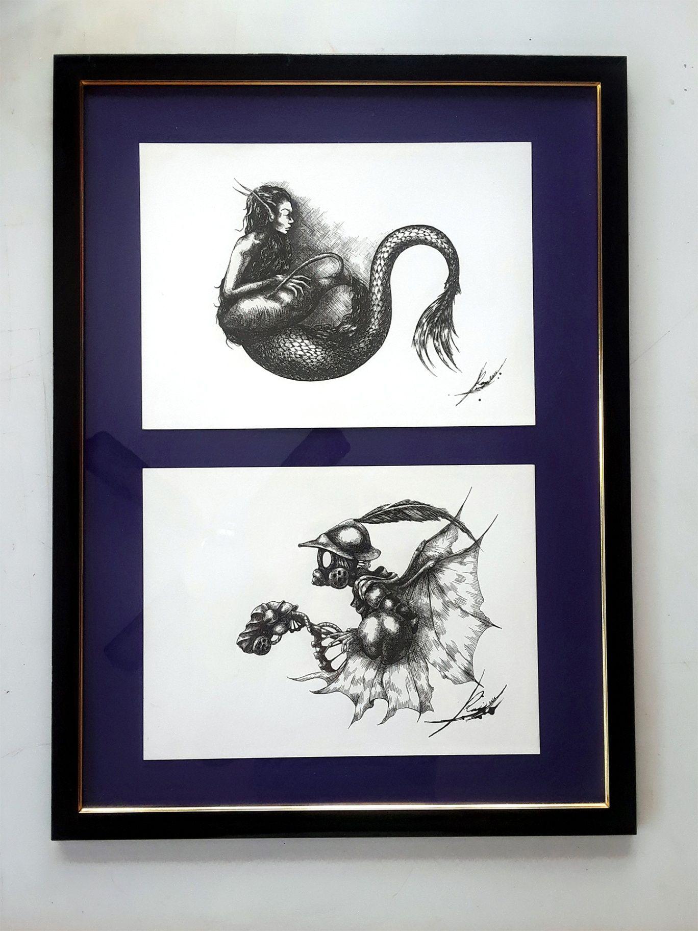 Obra: Muestra de Conjunto de Ilustraciones para Revista