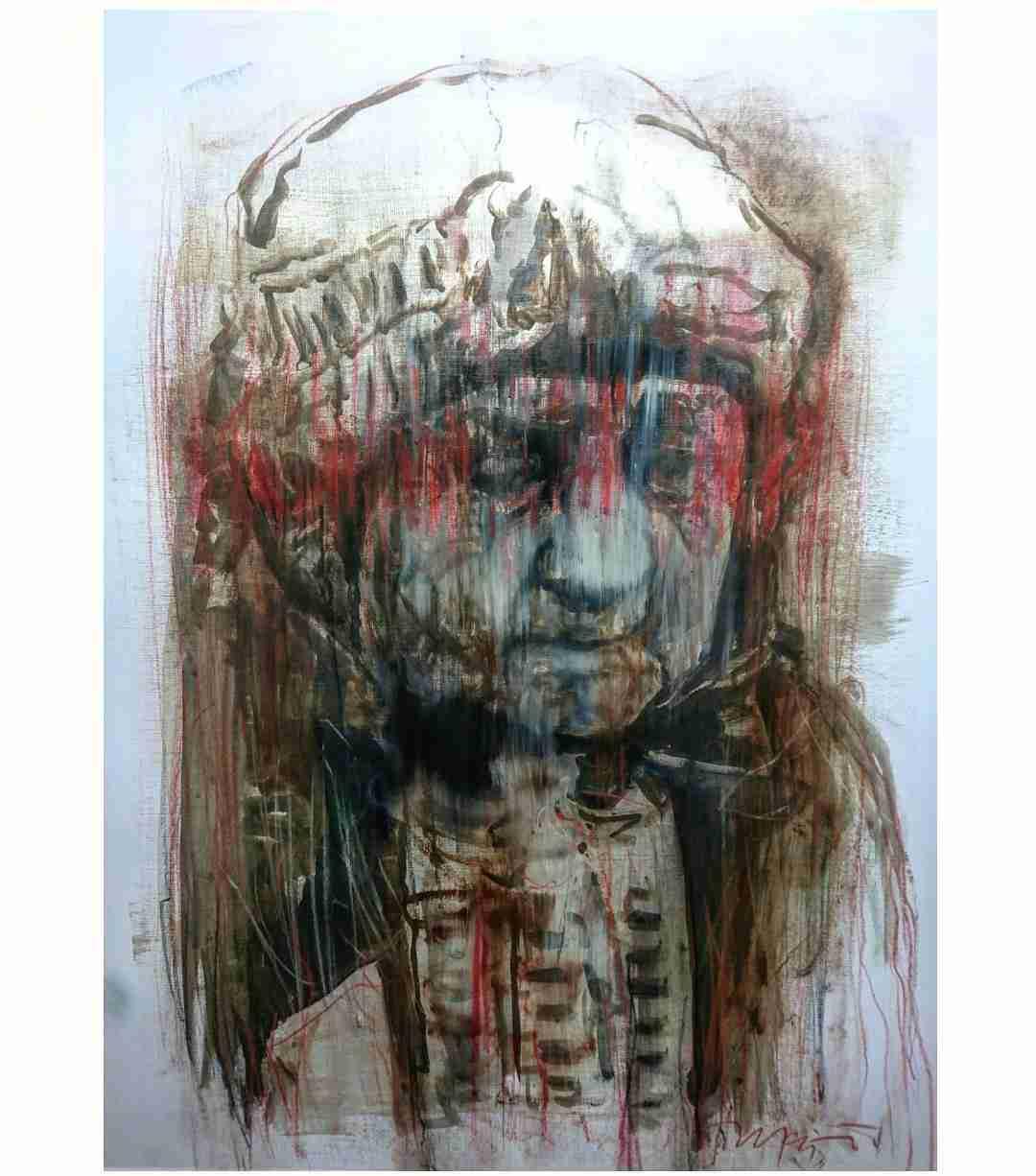 Obra: No más venda teñida de rojo (En honor a la resistencia mapuche)