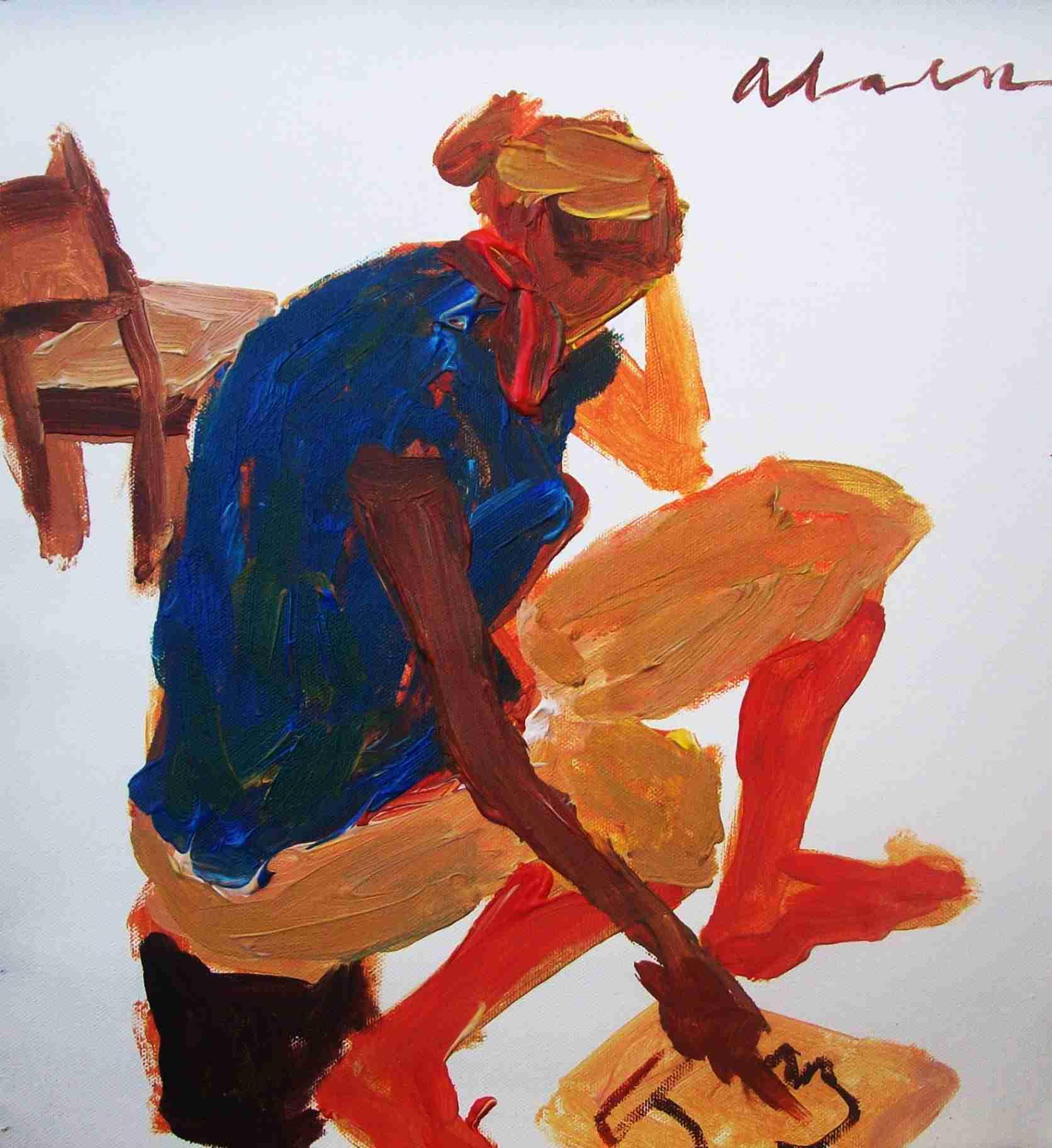 """Obra: Y pintó y pintó por todas partes... II De la serie """"A mal tiempo (cuarentena)"""""""