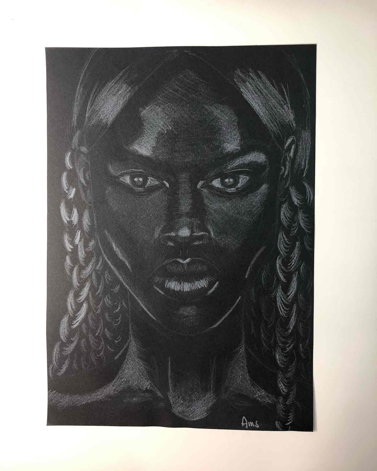 Obra: Pieza #5 de Serie Black Girls Matter