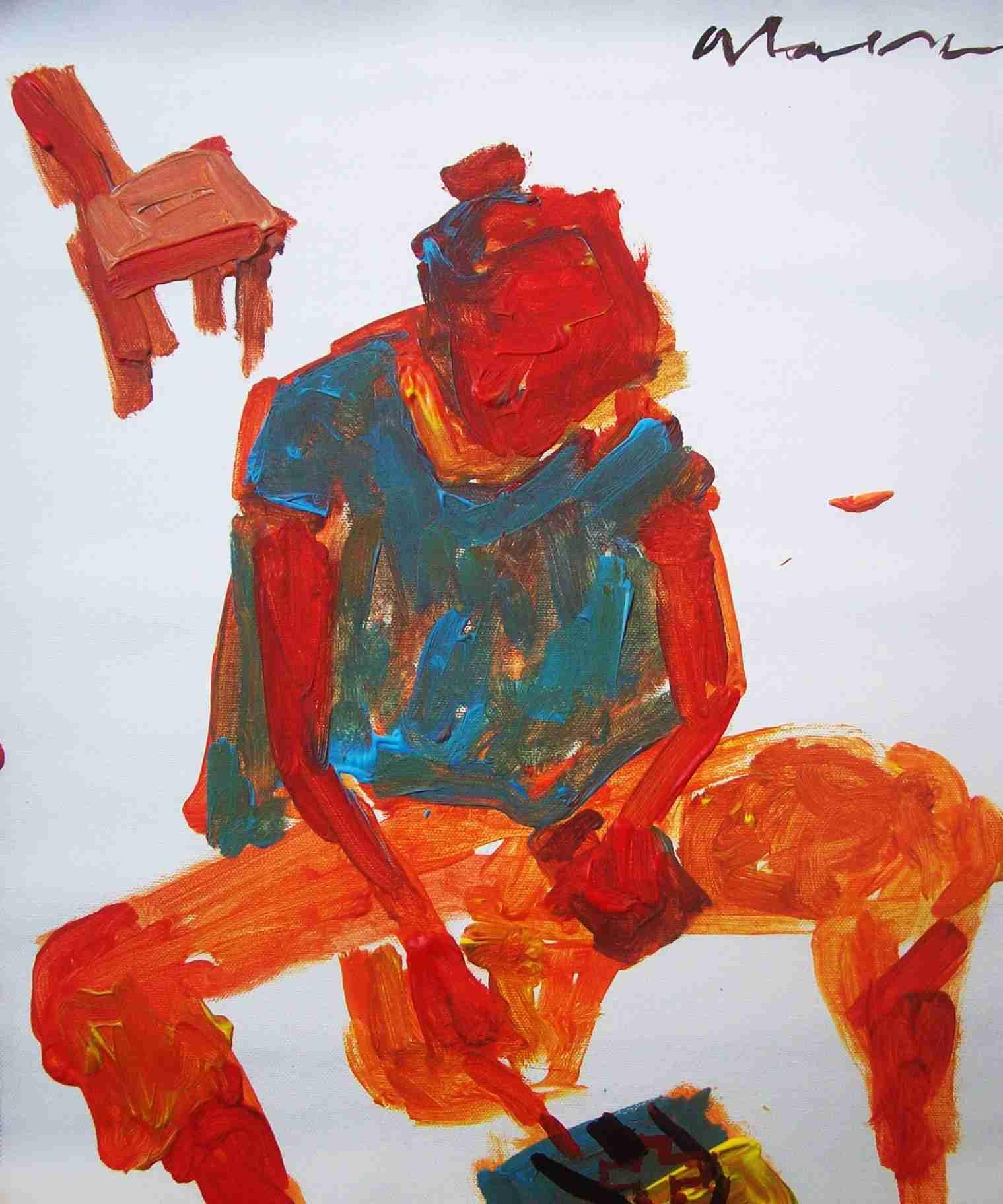 """Obra: Y pintó y pintó por todas partes... I De la serie """"A mal tiempo (cuarentena)"""""""