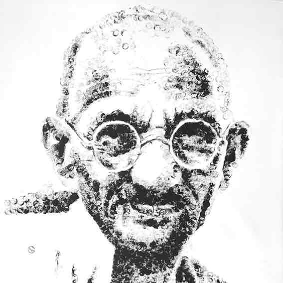 "Obra: Serie ""Gunshot"", Gandhi."
