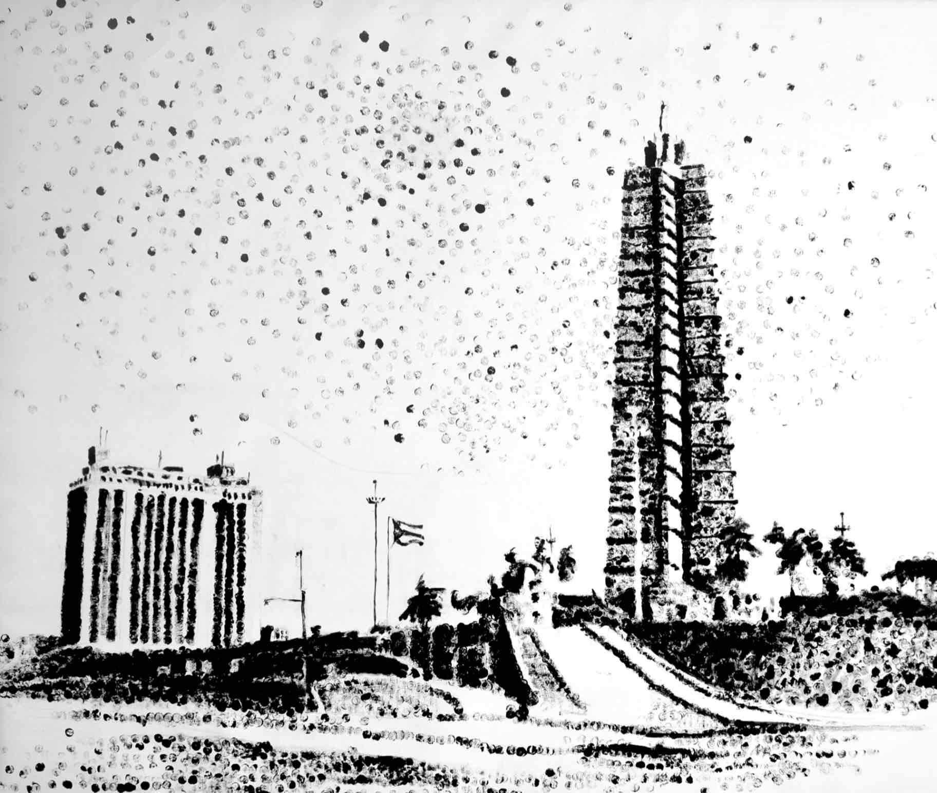 """Obra: Serie """"Foundations"""", plaza de la Revolución."""