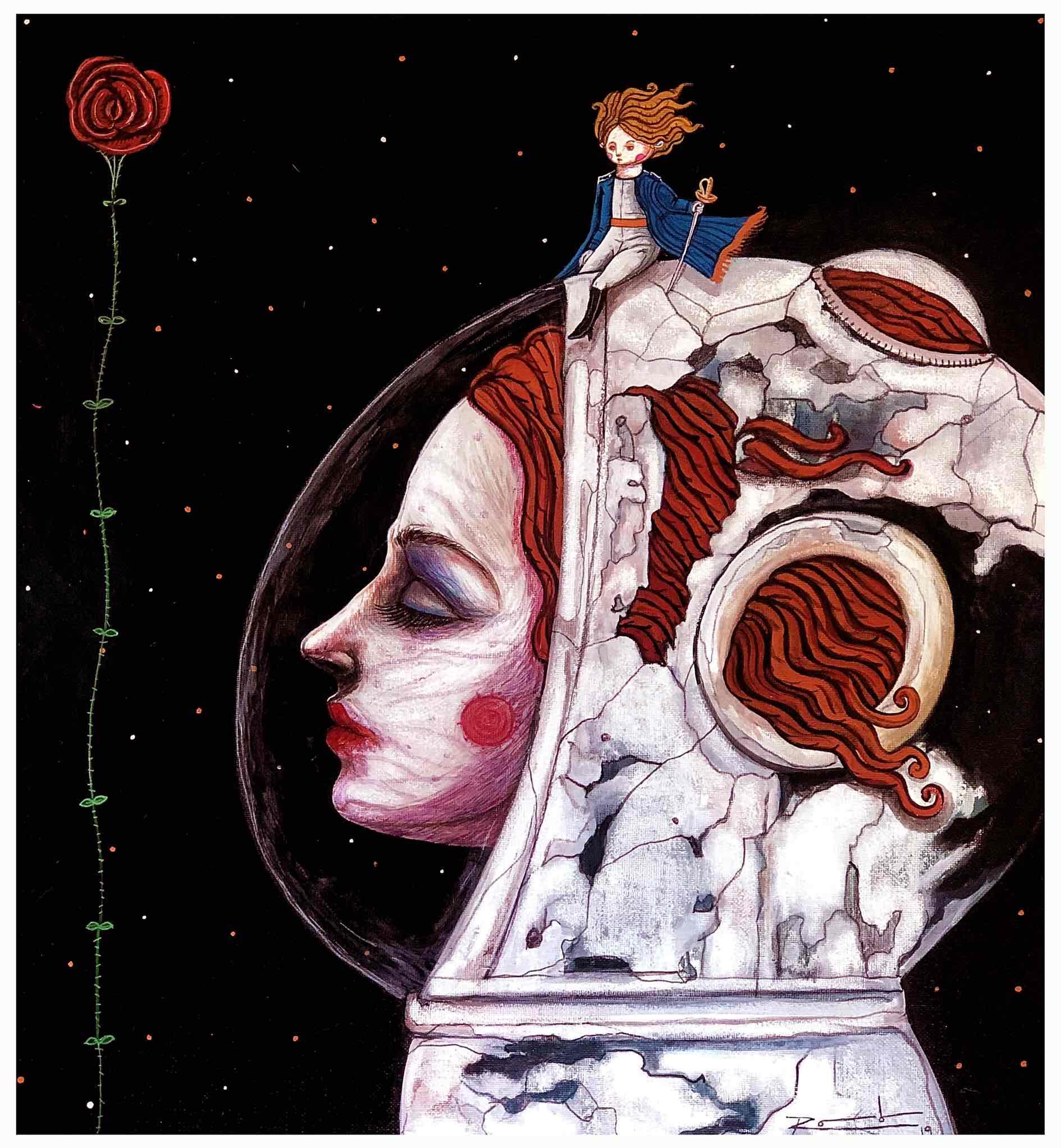 Obra: Posado sobre la Luna