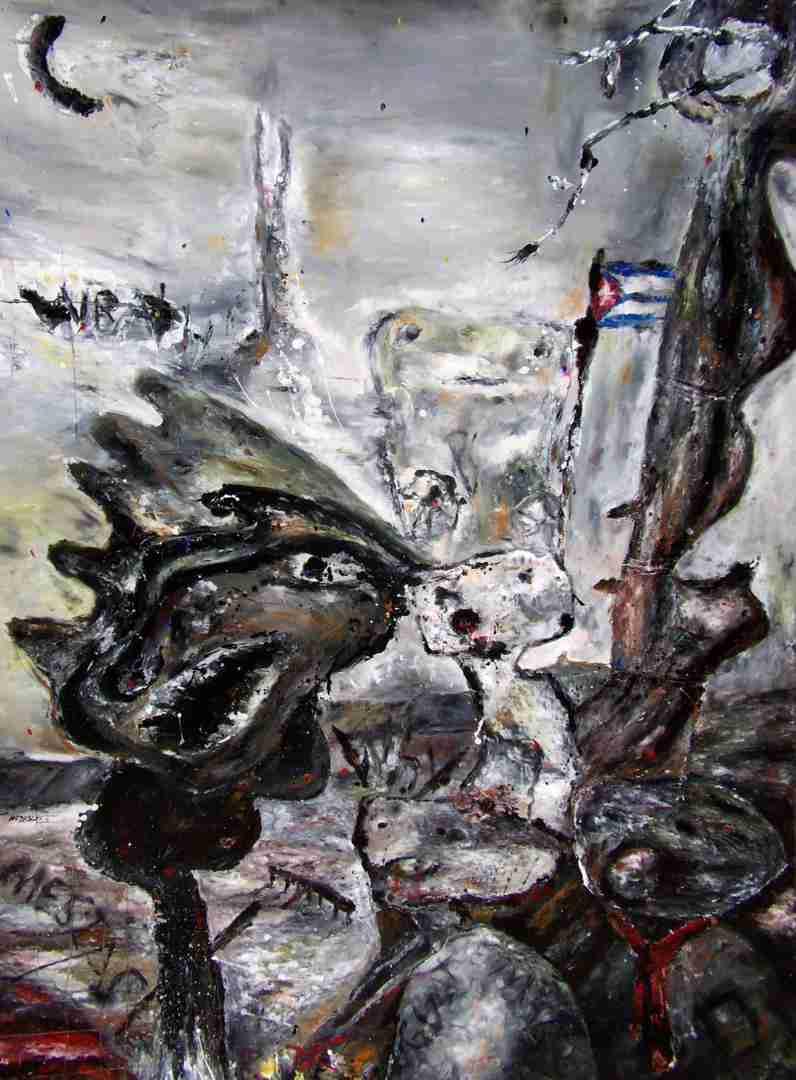 Obra: La muerte de Martí en la guerra de la última alianza ./The Martí death in the war of the Last Alliance