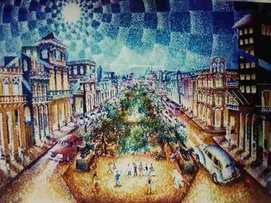 """Obra: """"Nocturno en el Prado """""""