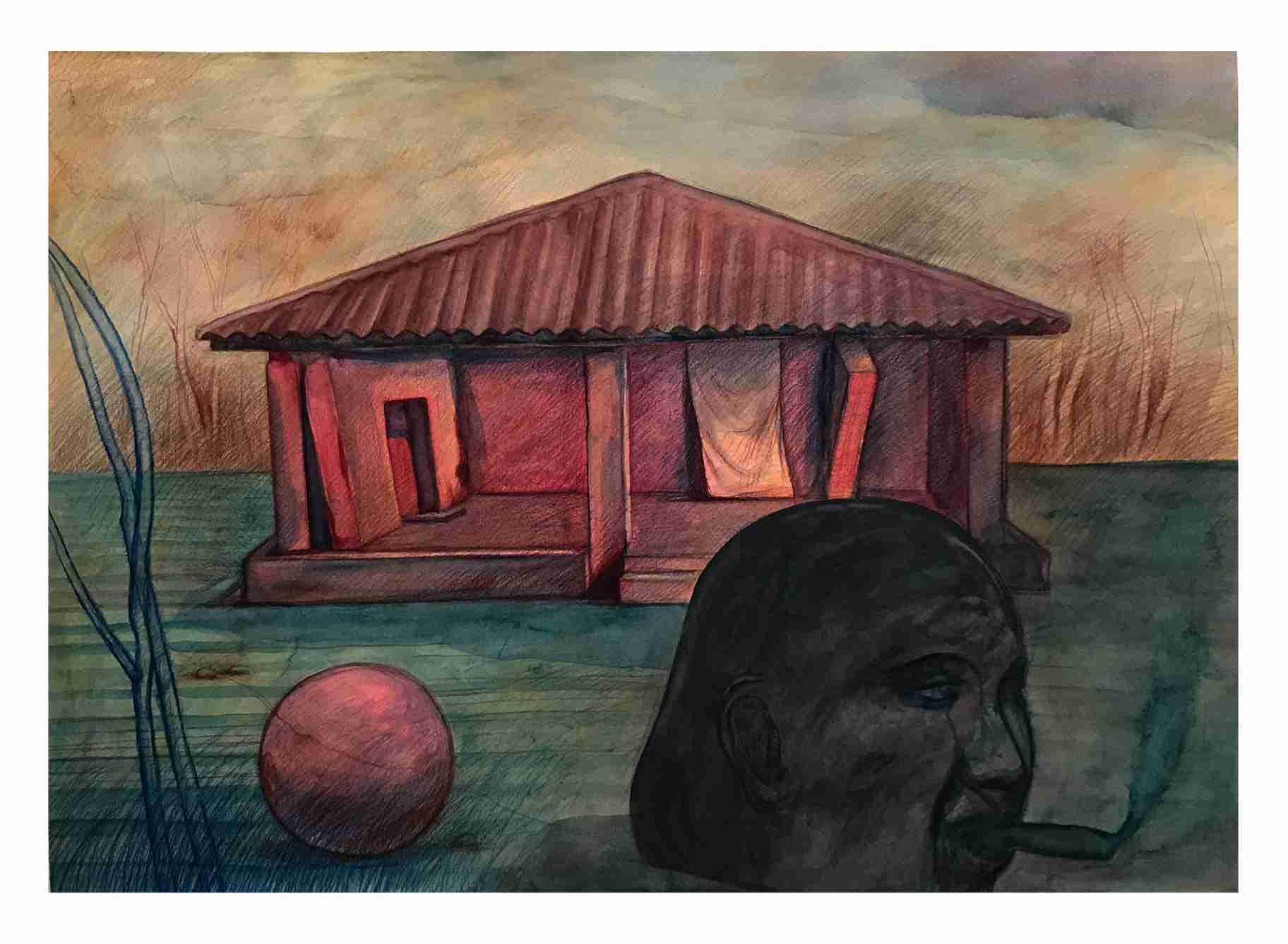 Obra: Paisaje con templo / Temple's landscape