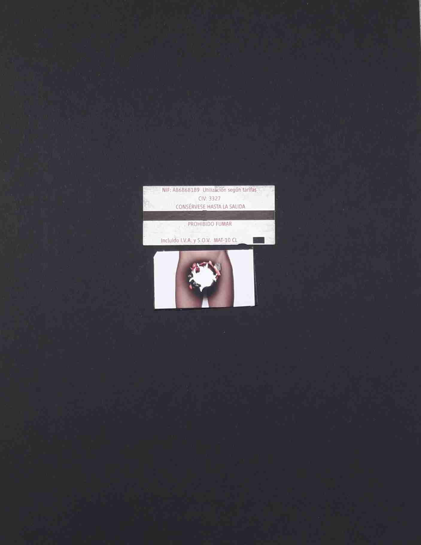 """Obra: De la serie """"Collages austeros"""