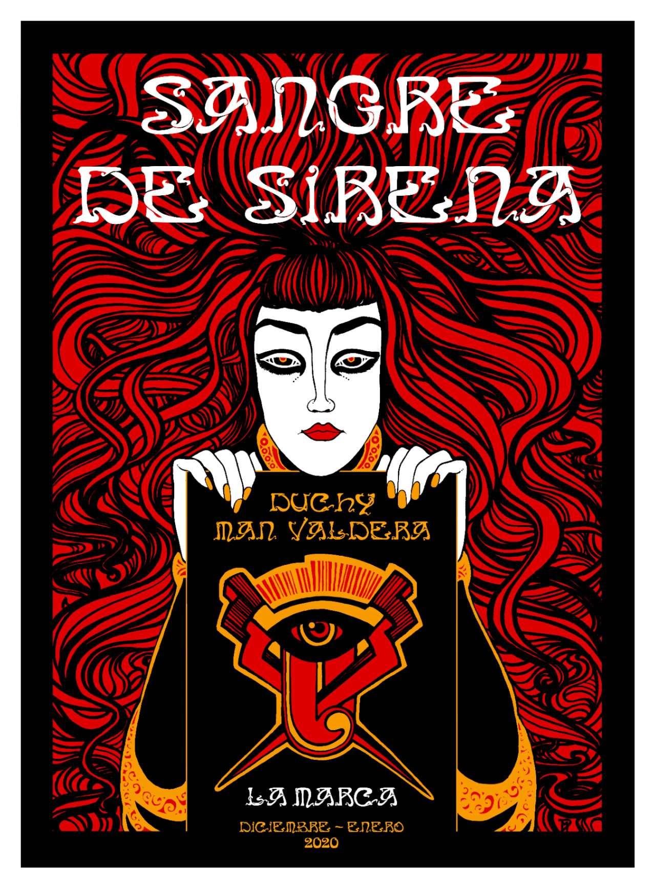 "Obra: ""Sangre de Sirena"" (cartel)"