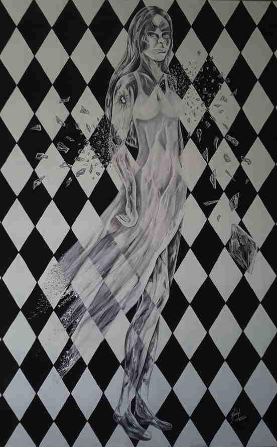 Obra: Dama de cristal y acero