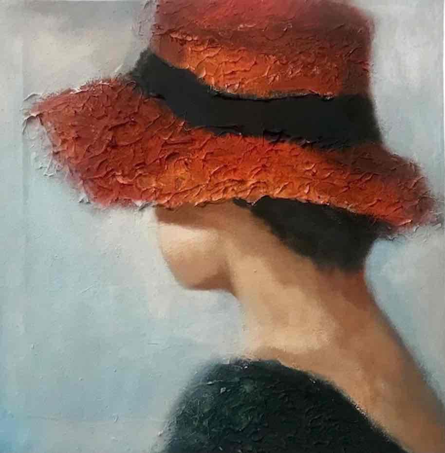 Obra: La niña del sombrero rojo