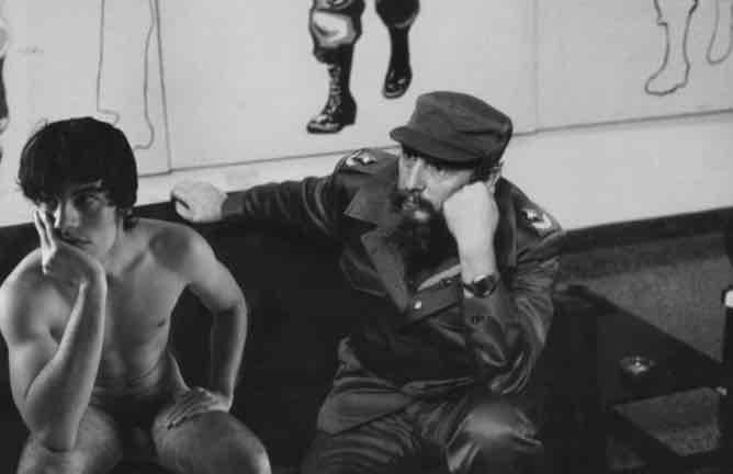 Obra: Fidel y Silvio Rodriguez (Mariano Diaz)