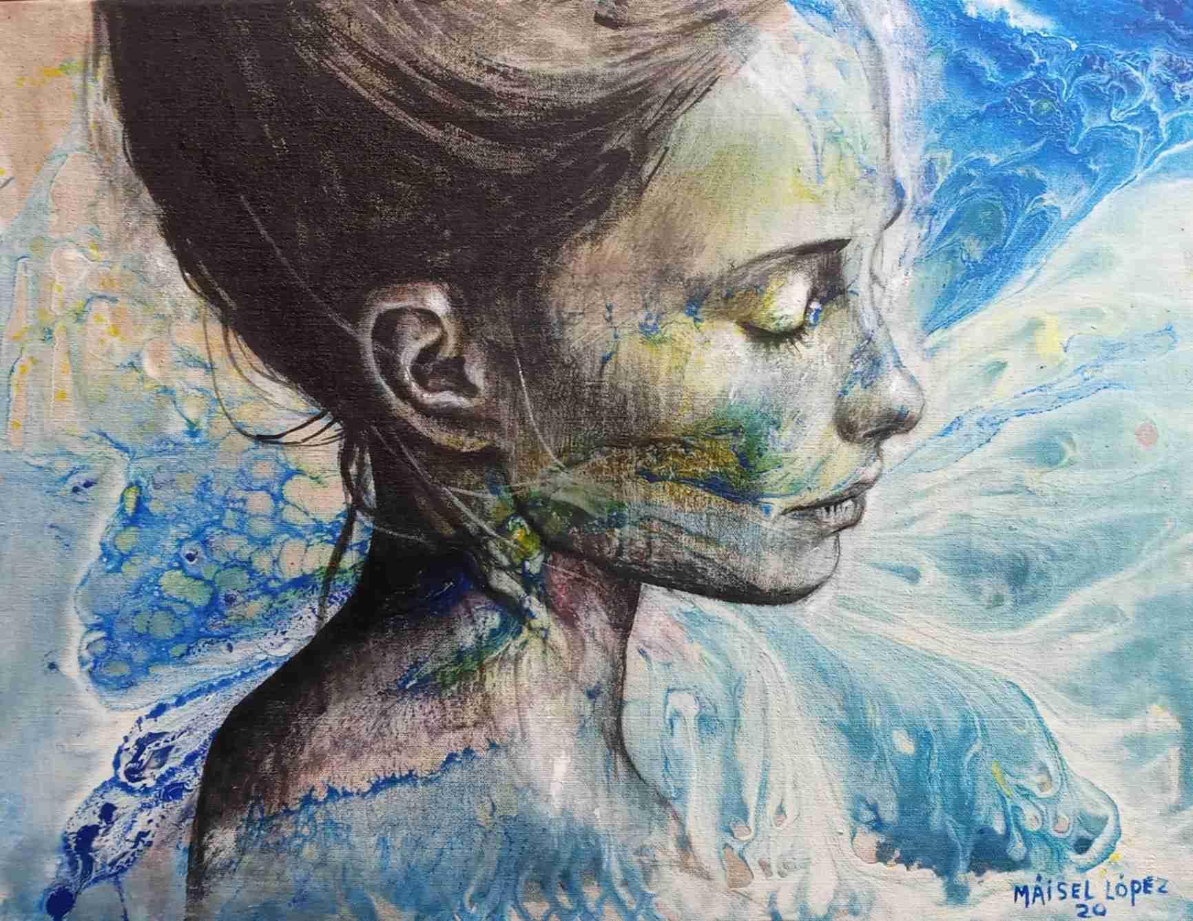 Obra: Mujer en azul