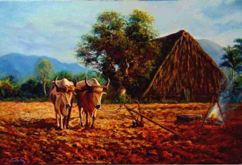 Obra:  A la espera o amanecer en campo cubano