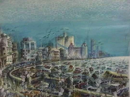 """Obra: """" Ciudad en movimiento """""""