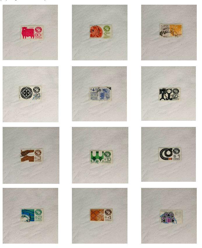 Obra: Tipología de timbres postales